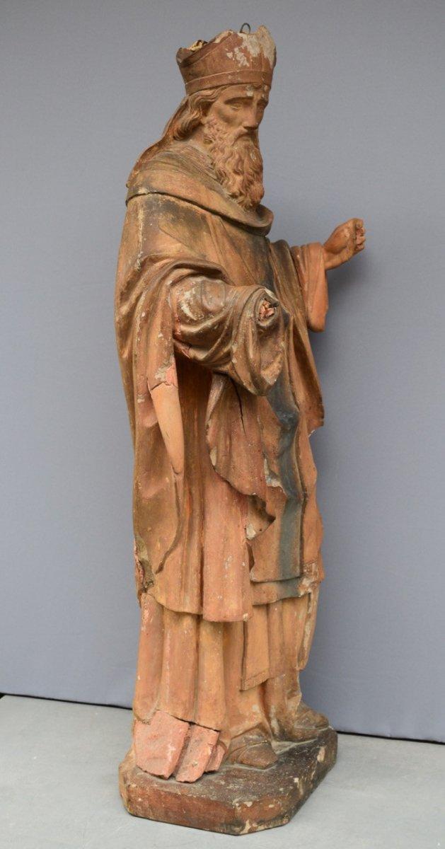 Statue En Terre Cuite XVIII Eme Siecle-photo-3
