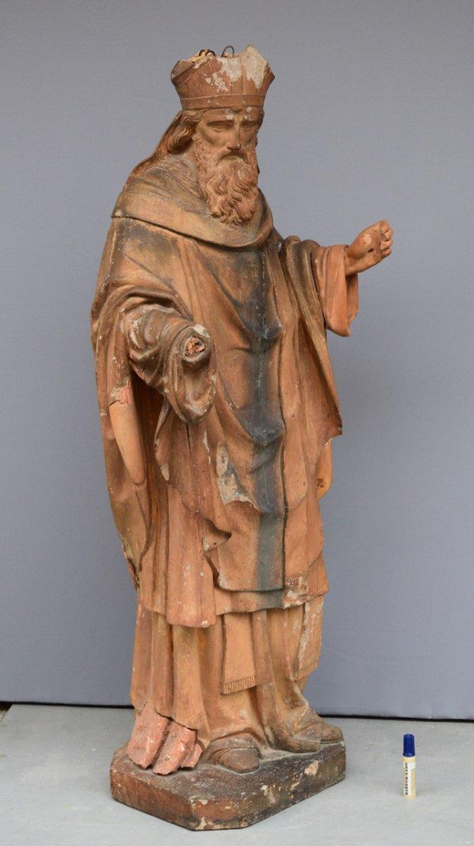 Statue En Terre Cuite XVIII Eme Siecle-photo-2