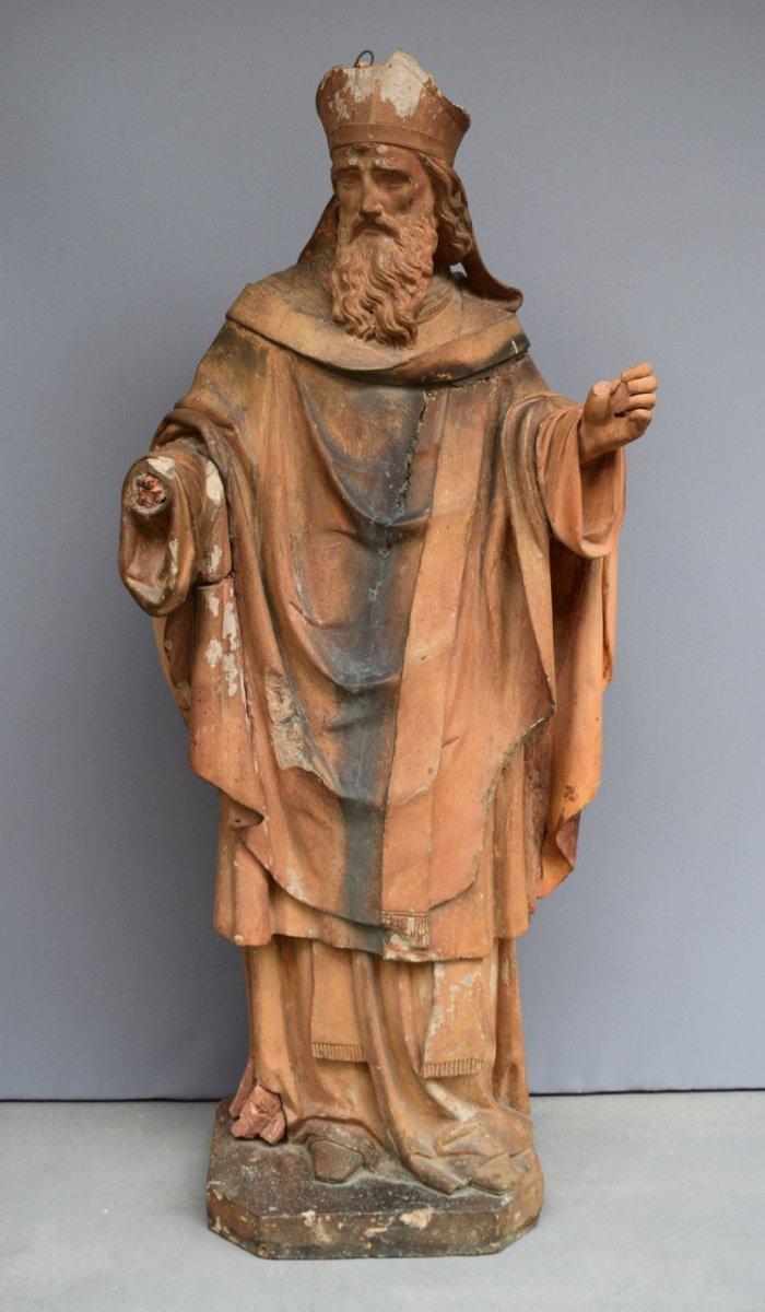 Statue En Terre Cuite XVIII Eme Siecle