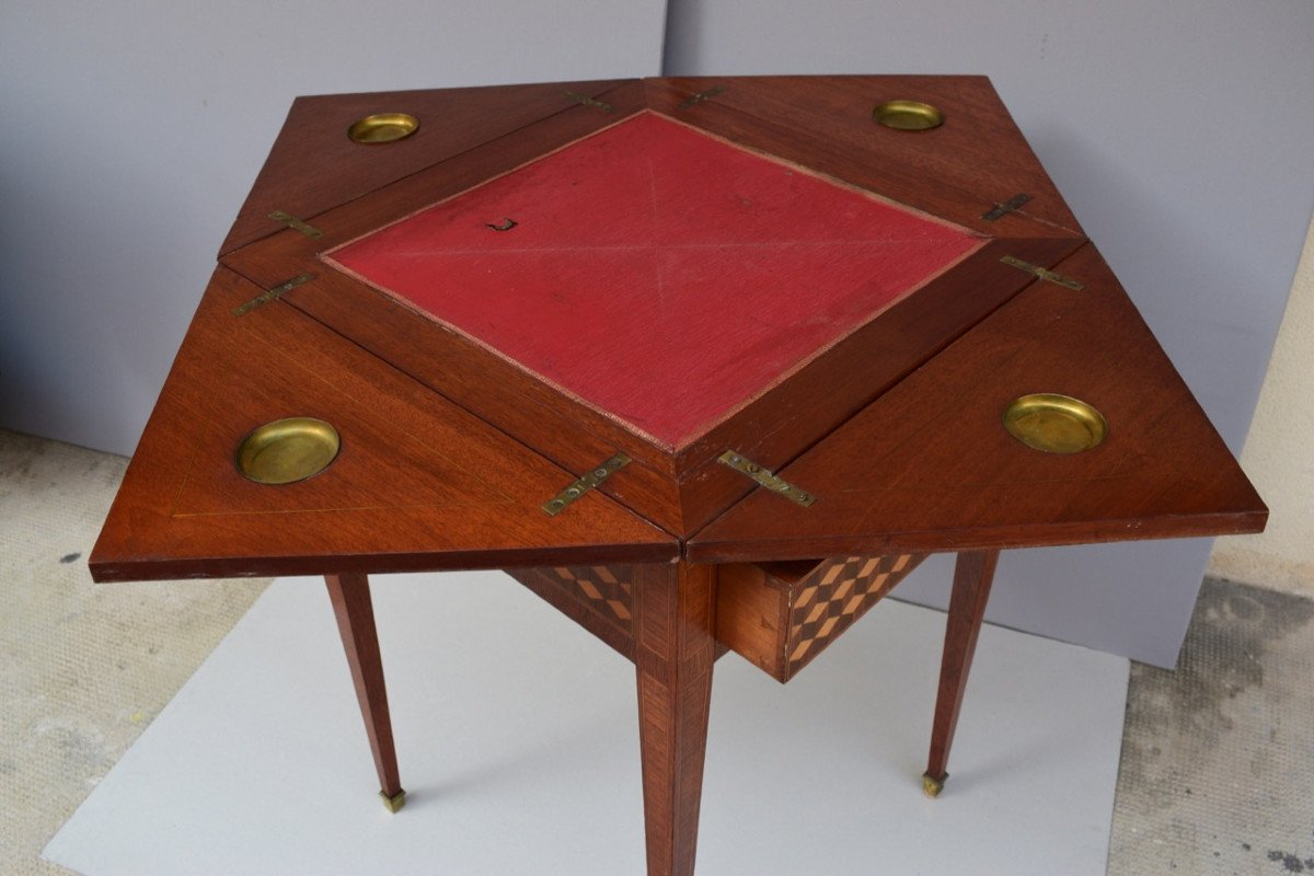 Table A Jeux De Style Louis XVI-photo-2
