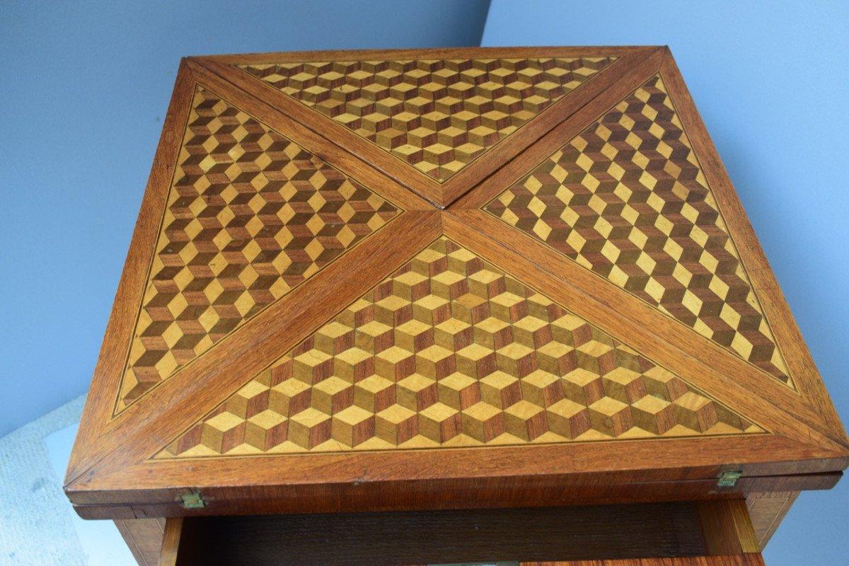 Table A Jeux De Style Louis XVI-photo-3