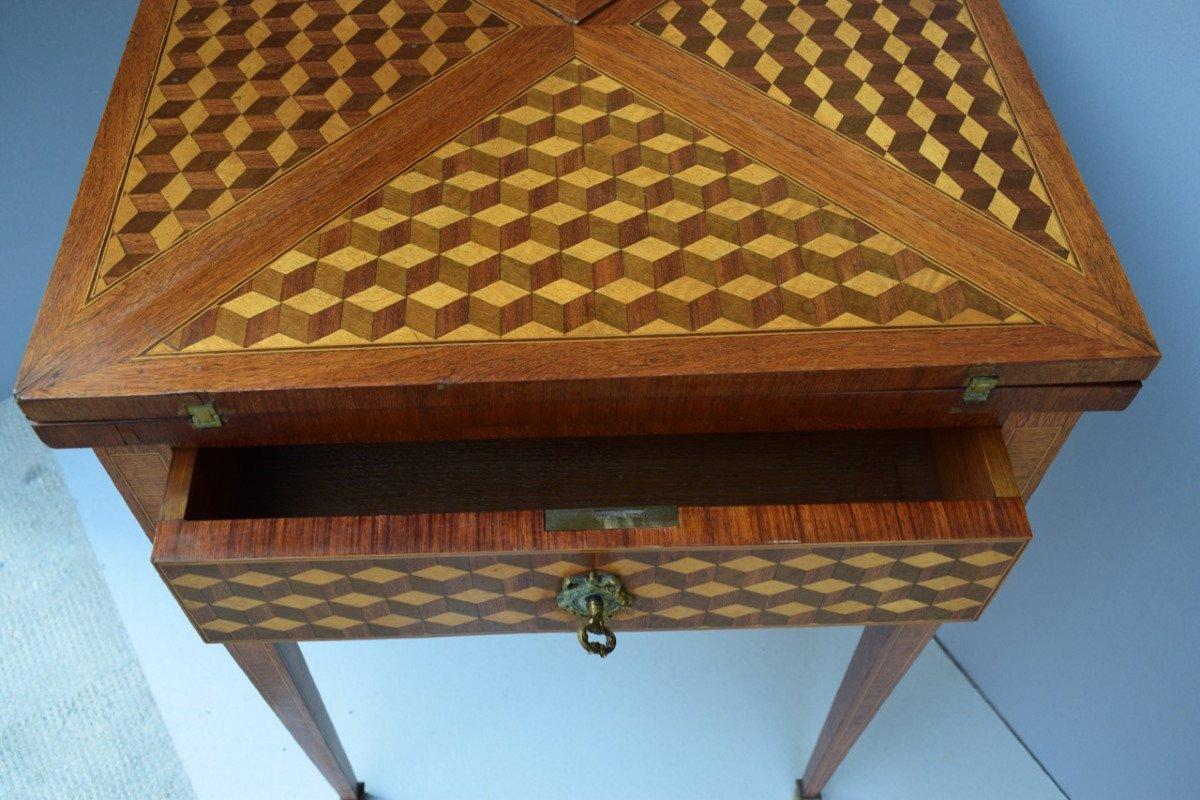Table A Jeux De Style Louis XVI-photo-4