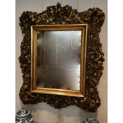 Miroir Baroque Italie XVIII Eme