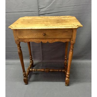 Petite Table Louis XIII En Noyer