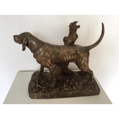 Importante Sculpture En Bronze De Auguste Nicolas Cain