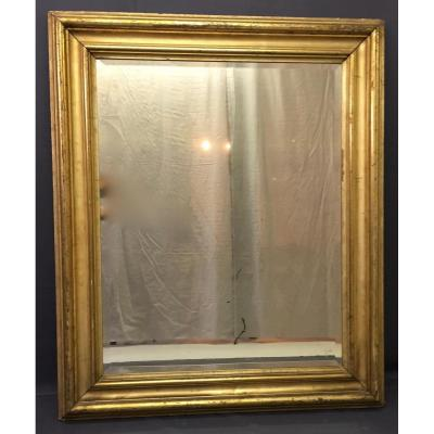 Miroir En Bois Doré Glace Biseautée