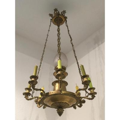 Bronze Empire Style Chandelier