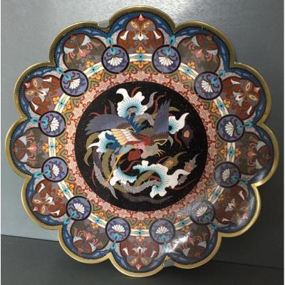 Plat Cloisonné Japon Période Meiji