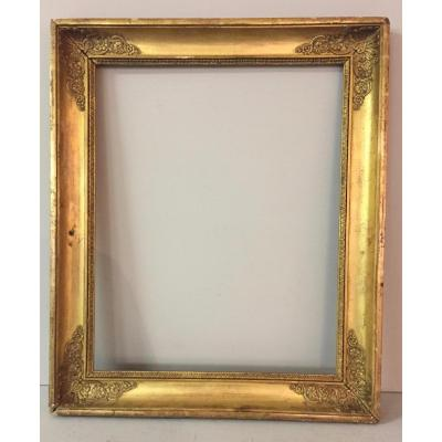 Empire Period Frame In Wood And Stucco Gilded