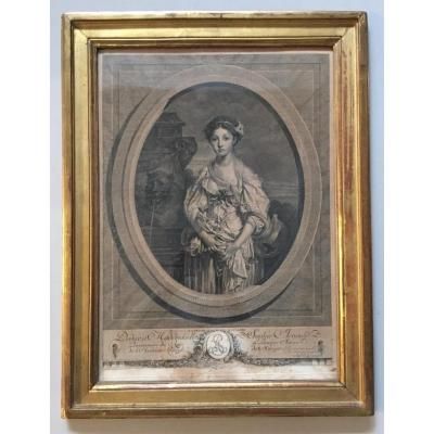 Cadre D époque Louis XVI En Chene Mouluré Et Doré