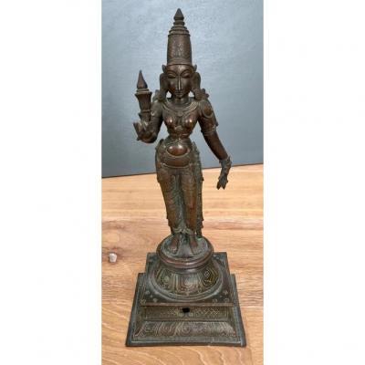 Sculpture En Bronze De La Déesse Parvati