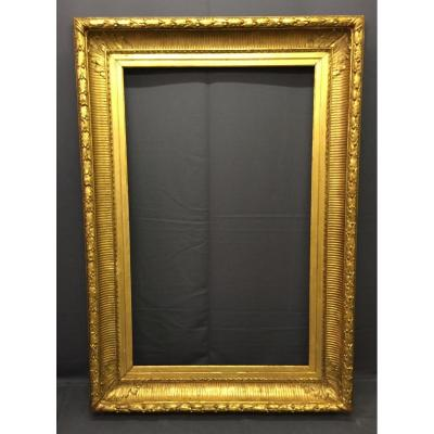 Large Frame D Empire Period In Wood And Stucco Gilded