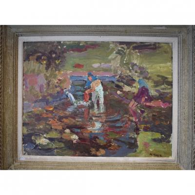 Orientalist Painting Signed M. Meyer