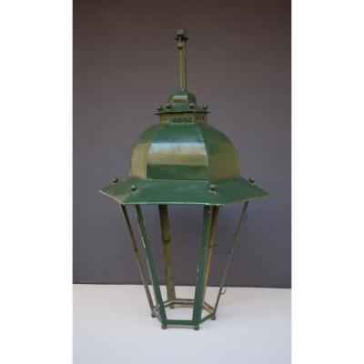 Large Lantern In Painted Iron