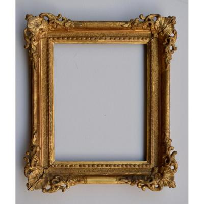 Louis XV Frame Carved And Gilded Oak