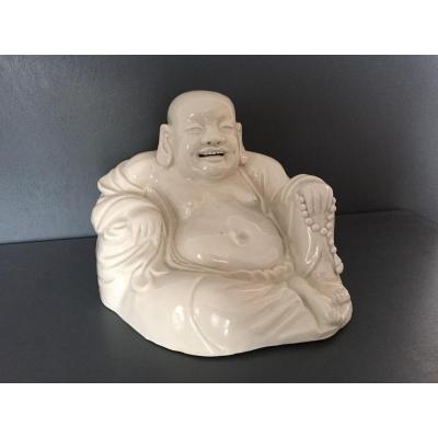 Bouddha Rieur En Porcelaine Chine 19 Eme