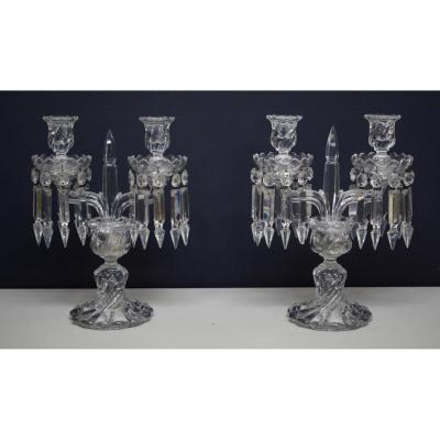 Pair Of Candlesticks By Baccarat