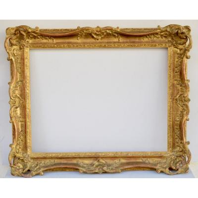 Louis XV Style Frame Carved And Gilded