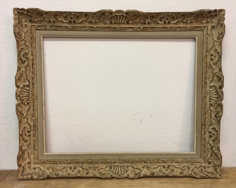 Montparnasse Frame Carved And Patinated Wood-photo-4