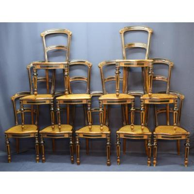 Series Of 11 Chairs D Restoration Period