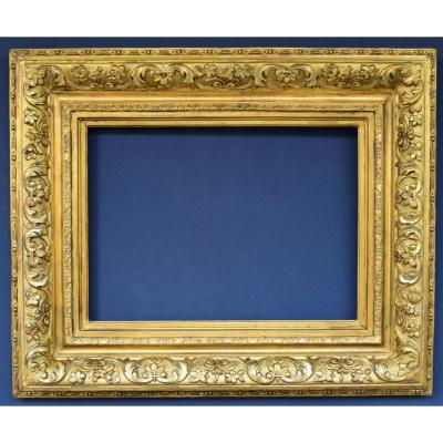 Wooden Frame And Golden Stucco 19 Eme