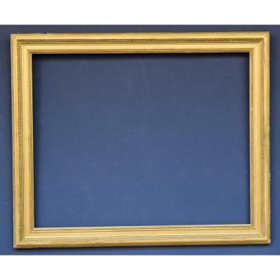 Louis XVI Style Frame In Wood And Golden Stucco