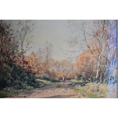 Watercolor By Paul Emile Lecomte