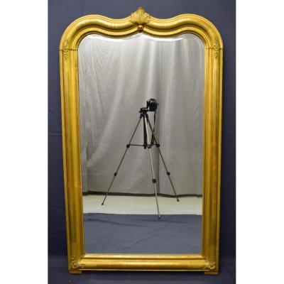 Miroir Louis Philippe En Bois Doré