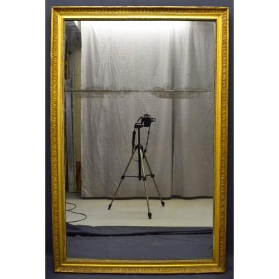 Grand Miroir D époque Empire En Bois Doré