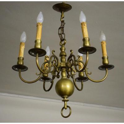 Lustre Hollandais En Bronze