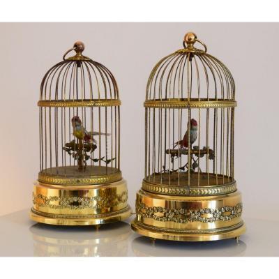Automates Paire De Cages A Oiseaux Siffleurs