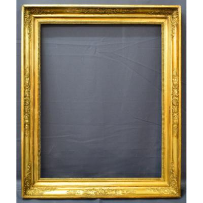 Large Empire Frame In Golden Wood