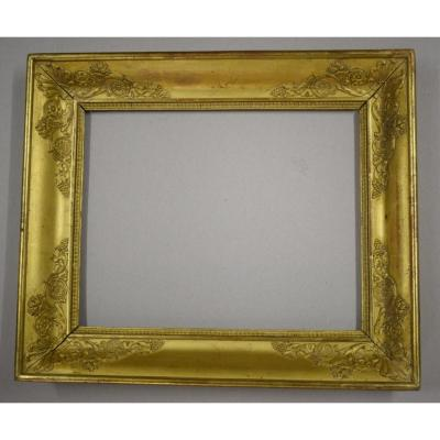 Empire Period Frame In Golden Wood