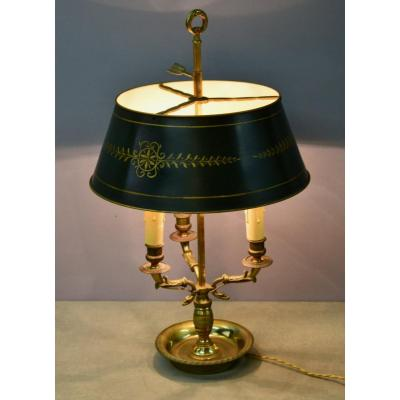 Hot Water Bottle Lamp In Gilt Bronze