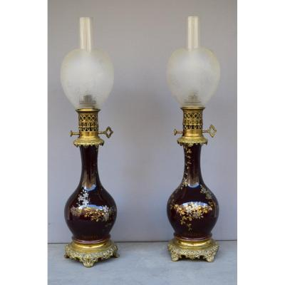 Pair Of Napoleon III Period Lamps