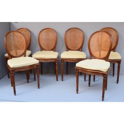 6 Chaises De Style Louis XVI