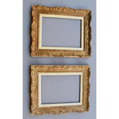 Pair Of Montparnasse Frames In Patinated Wood