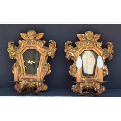 Pair Of Italian Baroque Style Sconces