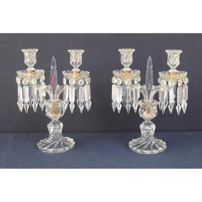 Pair Of Baccarat Crystal Girandoles