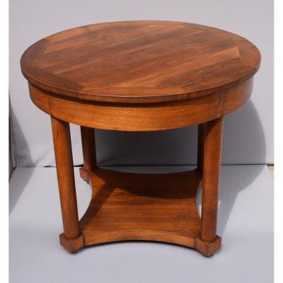 Pedestal D Empire Period In Walnut