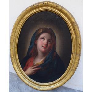 Portrait Of A Virgin In Prayer Attributed To Giambettino Cignaroli (1706-1770)