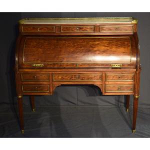 Louis XVI Period Mahogany Cylinder Desk