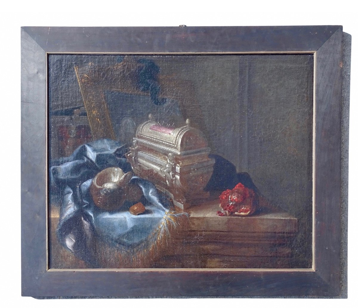 Meiffren Comte (Marseille, 1630 – Marseille, 12 Marzo 1705), Nature Morte Au Coffret