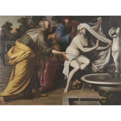 Pacecco De Rosa  (naples, 1607 - Naples, 1656), Suzanne Et Les Vieillards