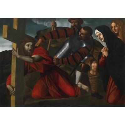 Alessandro Bonvicino Or Moretto Da Brescia (Brescia,1498 Circa – 1554), Christ Portant La Croix