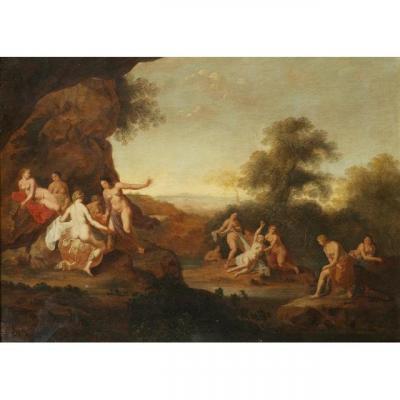 Cornelis Van Poelenburch (utrecht, 1590  – Utrecht, 1667), Diana Et Callisto