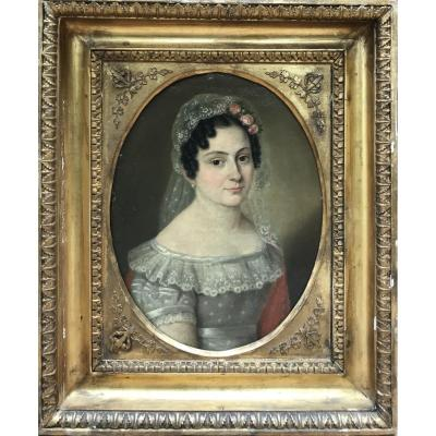 Ècole Française Du XIX Siècle, Portrait De Femme