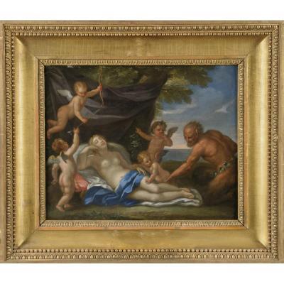 Carlo Maratta (camerano, 1625 - Roma, 1713), Jupiter Transformé En Satyre