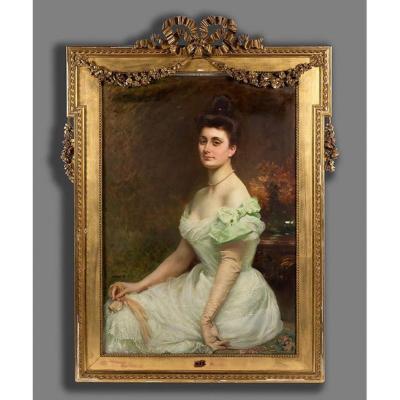 École Italienne Fin XIXe Siècle, Portrait De Dame