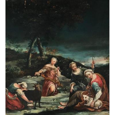 Giuseppe Maria Crespi  (bologna, 14 Marzo 1665[1] – Bologna, 16 Luglio 1747), Scène Pastorale